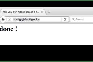 Docker TOR Hidden Service - Easily Setup A Hidden Service Inside The Tor Network