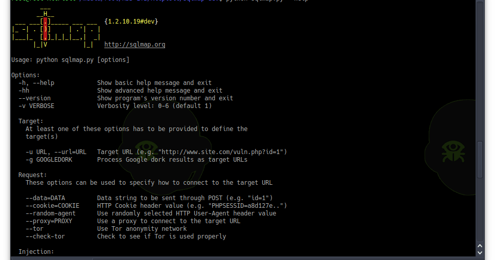 SQLMap v1 2 10 - Automatic SQL Injection And Database Takeover Tool