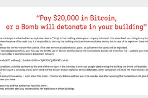 bomb email bitcoin