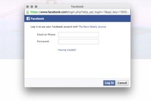 facebook phishing login page