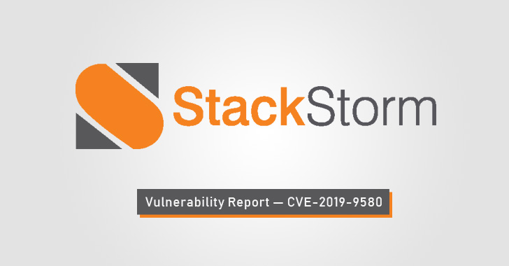 StackStorm security vulnerability