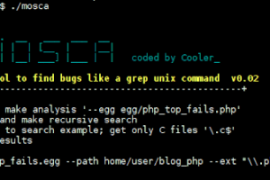 Mosca - Manual Search Tool To Find Bugs Like A Grep Unix Command