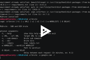 URLBrute - Tool To Brute Website Sub-Domains And Dirs