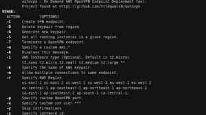 Autovpn - Create On Demand Disposable OpenVPN Endpoints On AWS