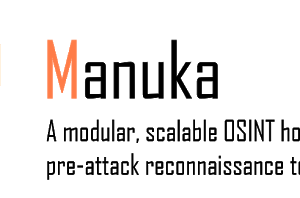 Manuka - A Modular OSINT Honeypot For Blue Teamers