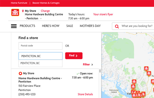Search HomeHardware.ca