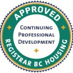 Registrar BC Housing Continuing Professional Development Approved crest.