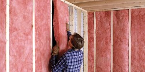 Batten insulation in Penticton.