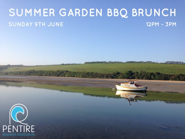 Pentire Residents Association Summer Garden BBQ Brunch in Newquay