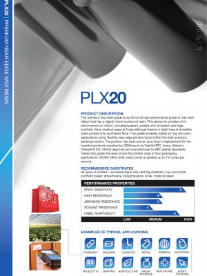 PLX20 Premium Wax Resin Voor Papier