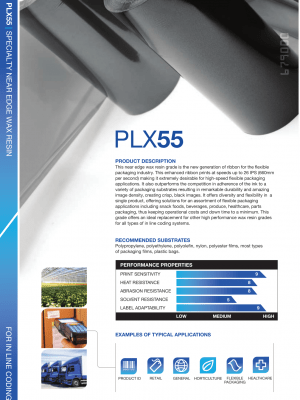 PLX55 High Speed Premium Wax Resin