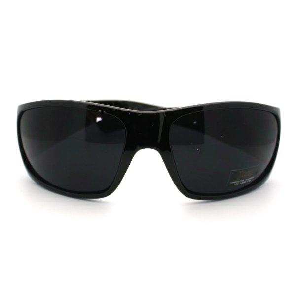 Mens Gangster Style Locs Sunglasses Oversized Dark Black Design