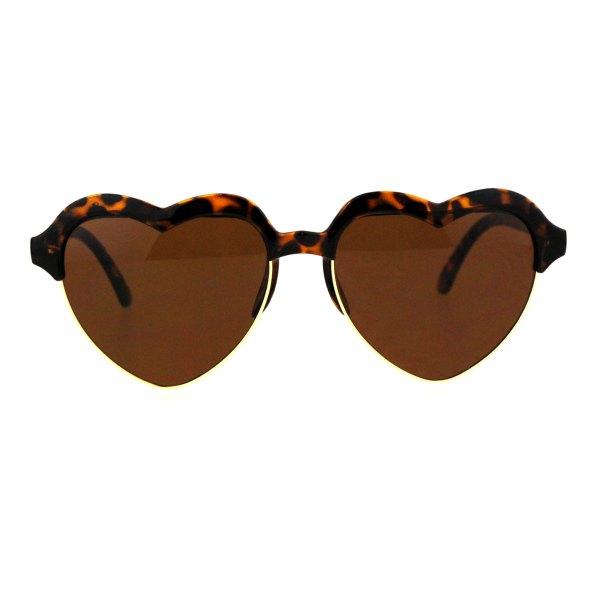 Sa106 Womens Rim Heart Shape Retro Sunglasses