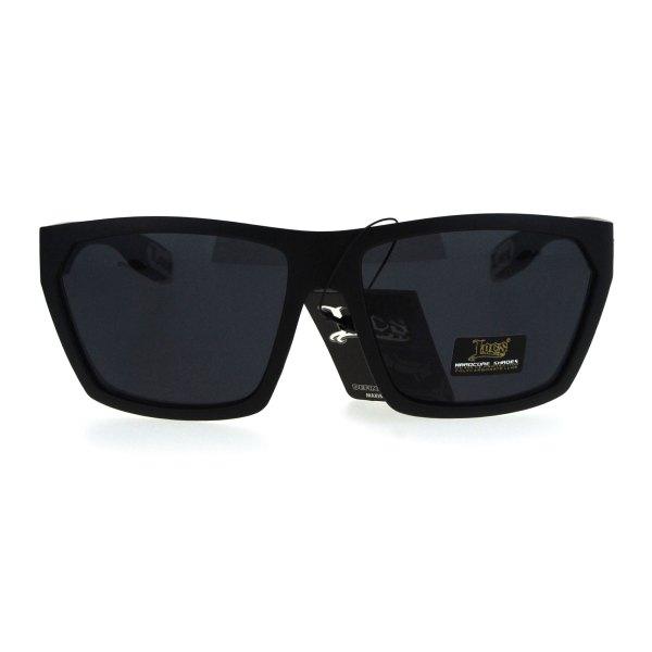 Locs Mens Futuristic Squared Robotic Rectangular Cholo Gangster Sunglasses