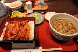 Yup, some eels on rice and then some noodles.