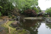 A lovely pond behind the shrine.