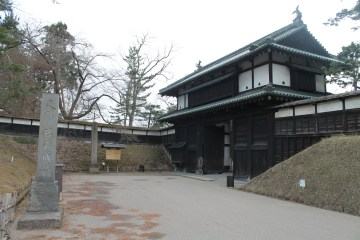 One of the gates to the Hirosaki Castle site