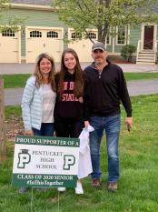 From left: Kristen Daniels, Pentucket senior Brooke Daniels and Stephen Daniels of Groveland. (Courtesy Photo Pentucket Regional School District)