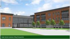 Rendering of High School Academic Wing