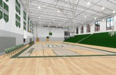 A rendering of the gymnasium that will be built for the Pentucket Regional Middle-High School building. (Courtesy Image Pentucket Regional School District)