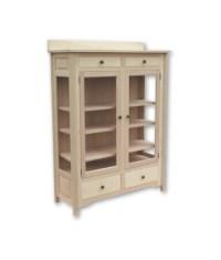 Mission Maple Curio Cabinet C1862 - Penwood Furniture
