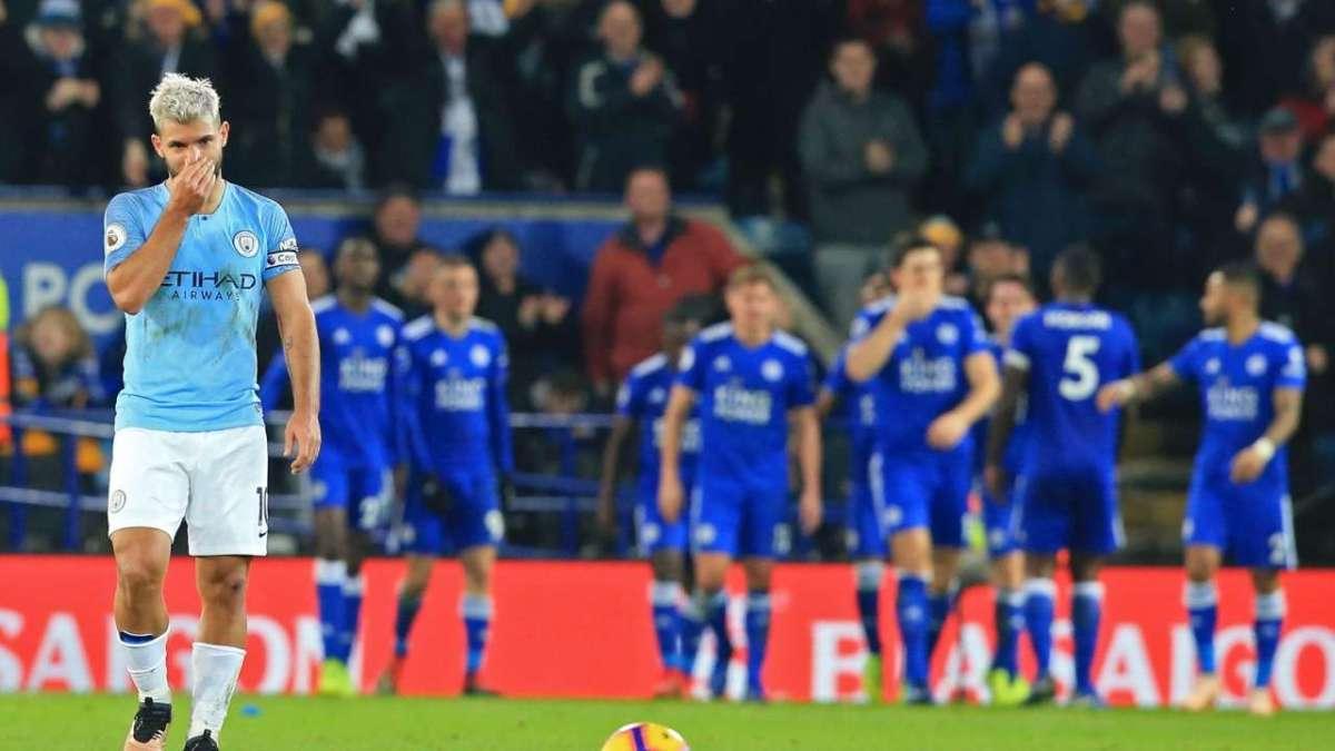 Hasil Pertandingan Leicester City vs Manchester City skor 2-1