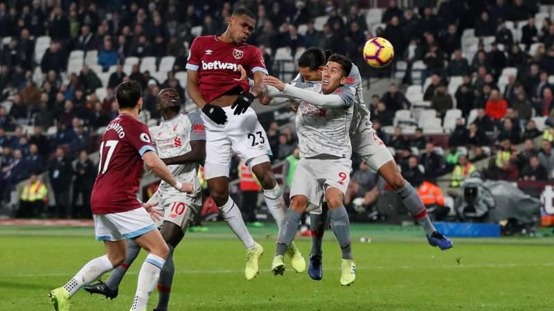 Hasil Pertandingan West Ham Vs Liverpool Skor 1-1