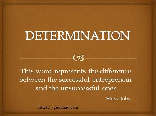 4 Determination