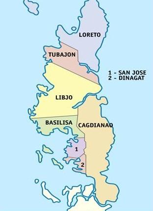 Dinagat Island Political Map