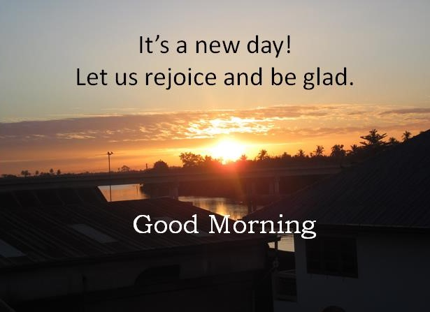 It's a new day!