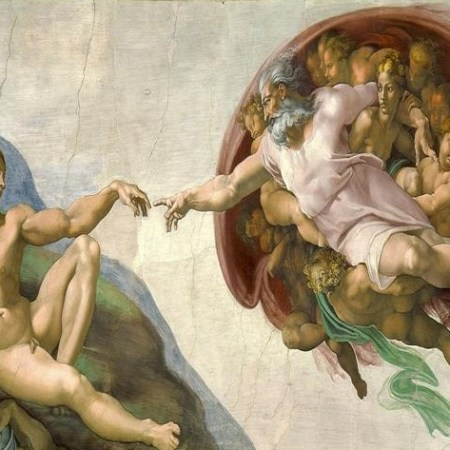 Michelangelo Painting of the Creation of Adam