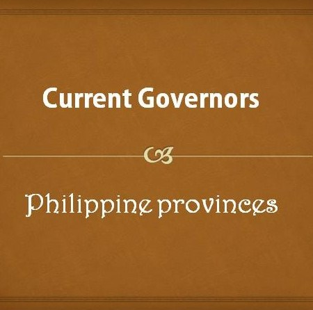 Current Governors of the Philippines
