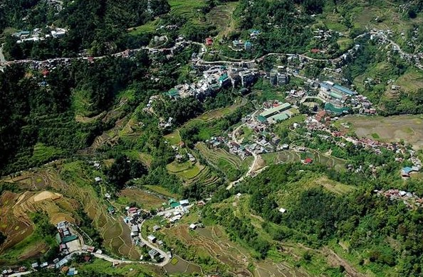 Aerial View of Banaue Town Center