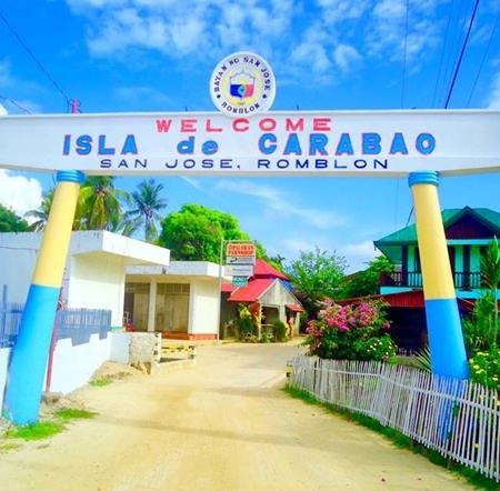 San Jose in Carabao Island Welcome Arch
