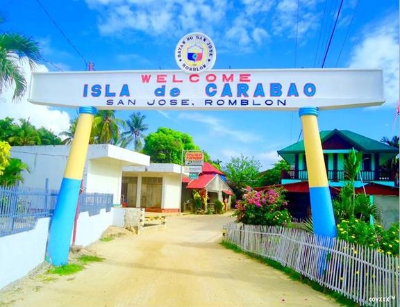 San Jose in Carabao Island Welcome Arch