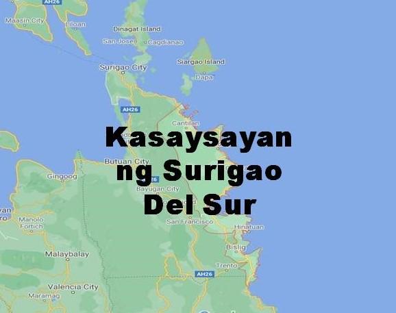 Surigao Del Sur History in Tagalog