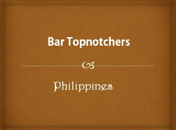 Bar Topnotchers in the Philippines