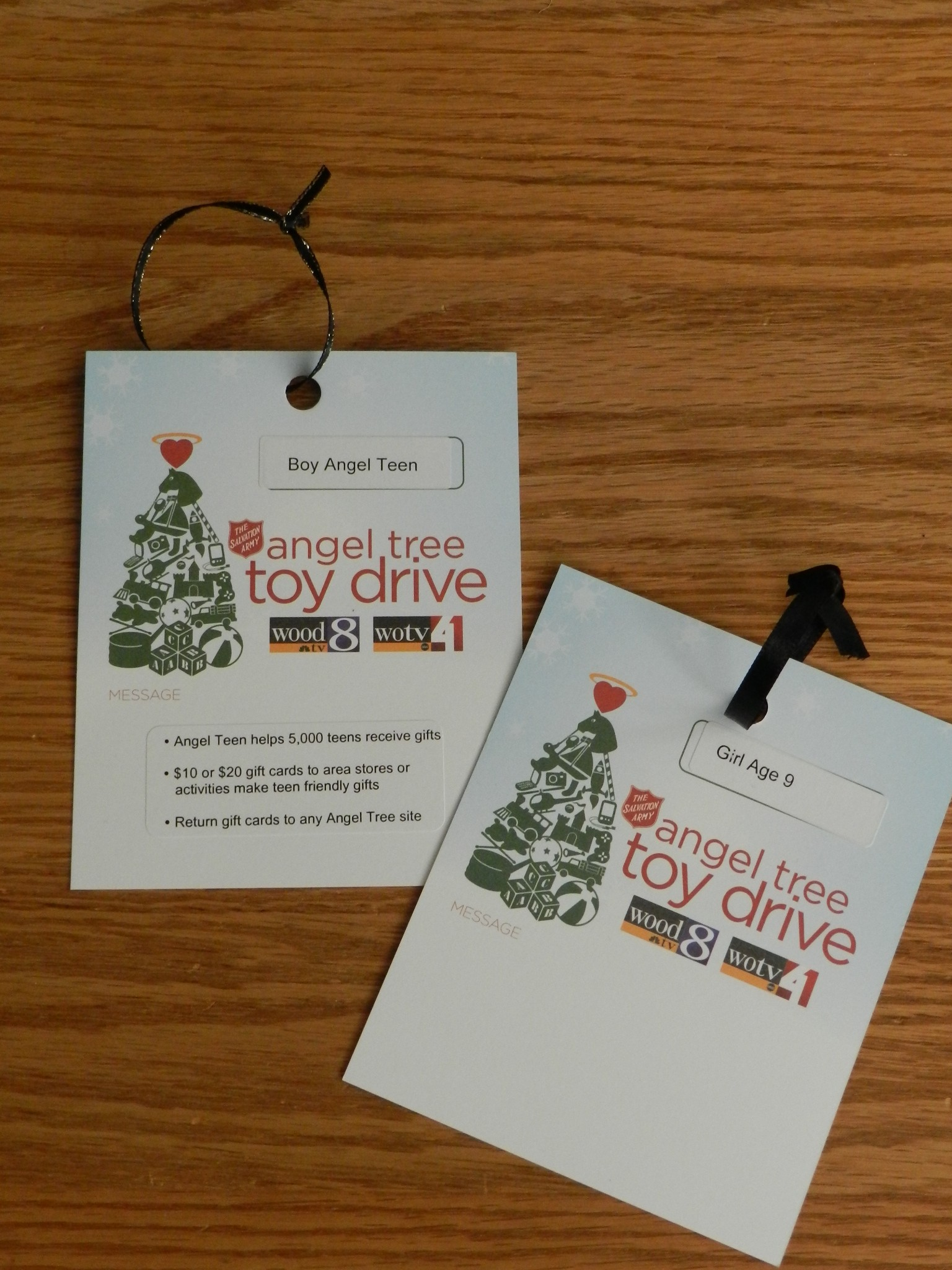 Angel Tree Toy Drive card  The People Equation