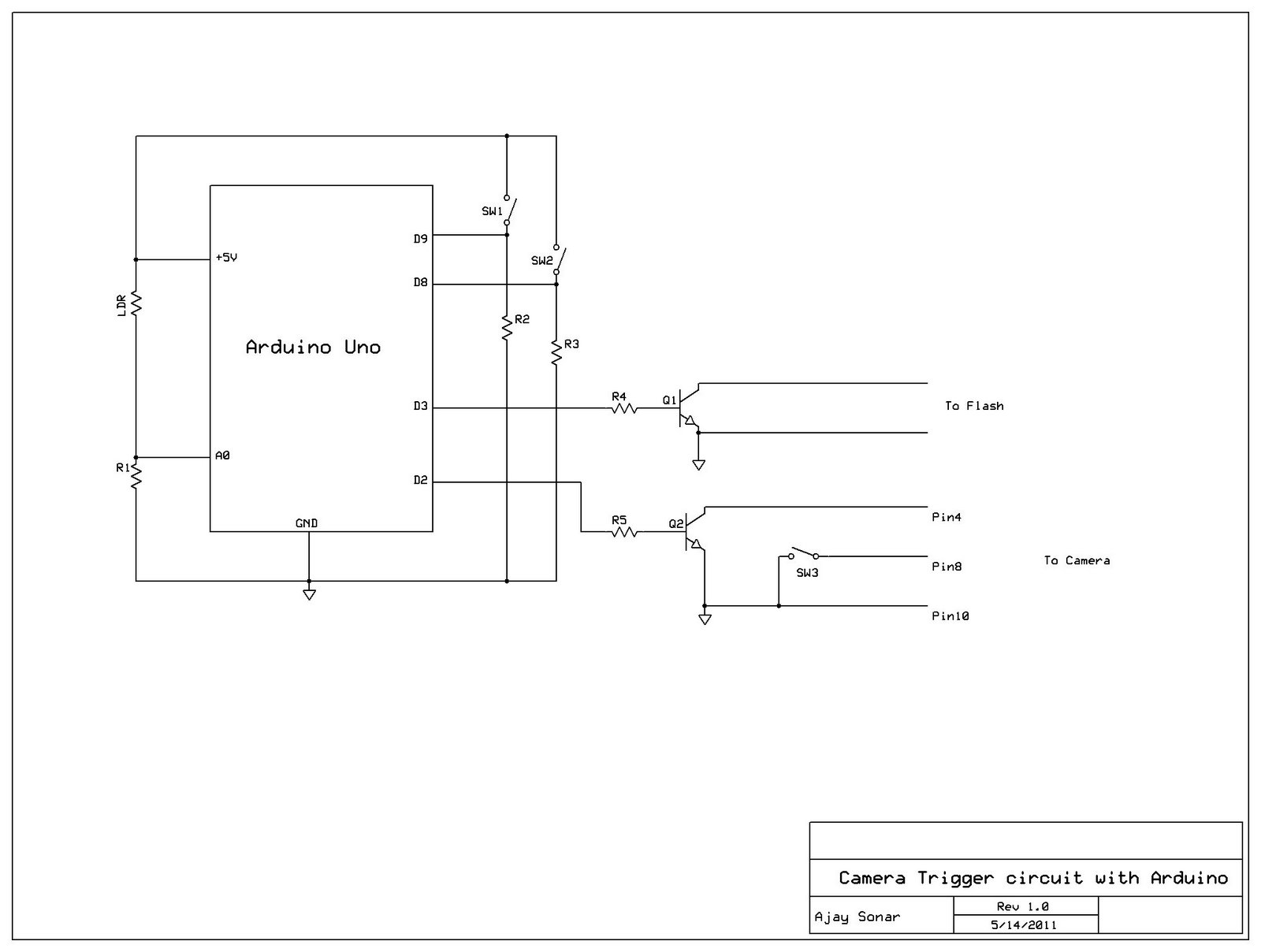 Simple Camera Flash Circuit Disposable Schematic In Addition