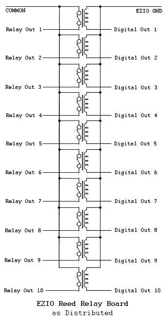 ezio reed relay board partially blank schematic