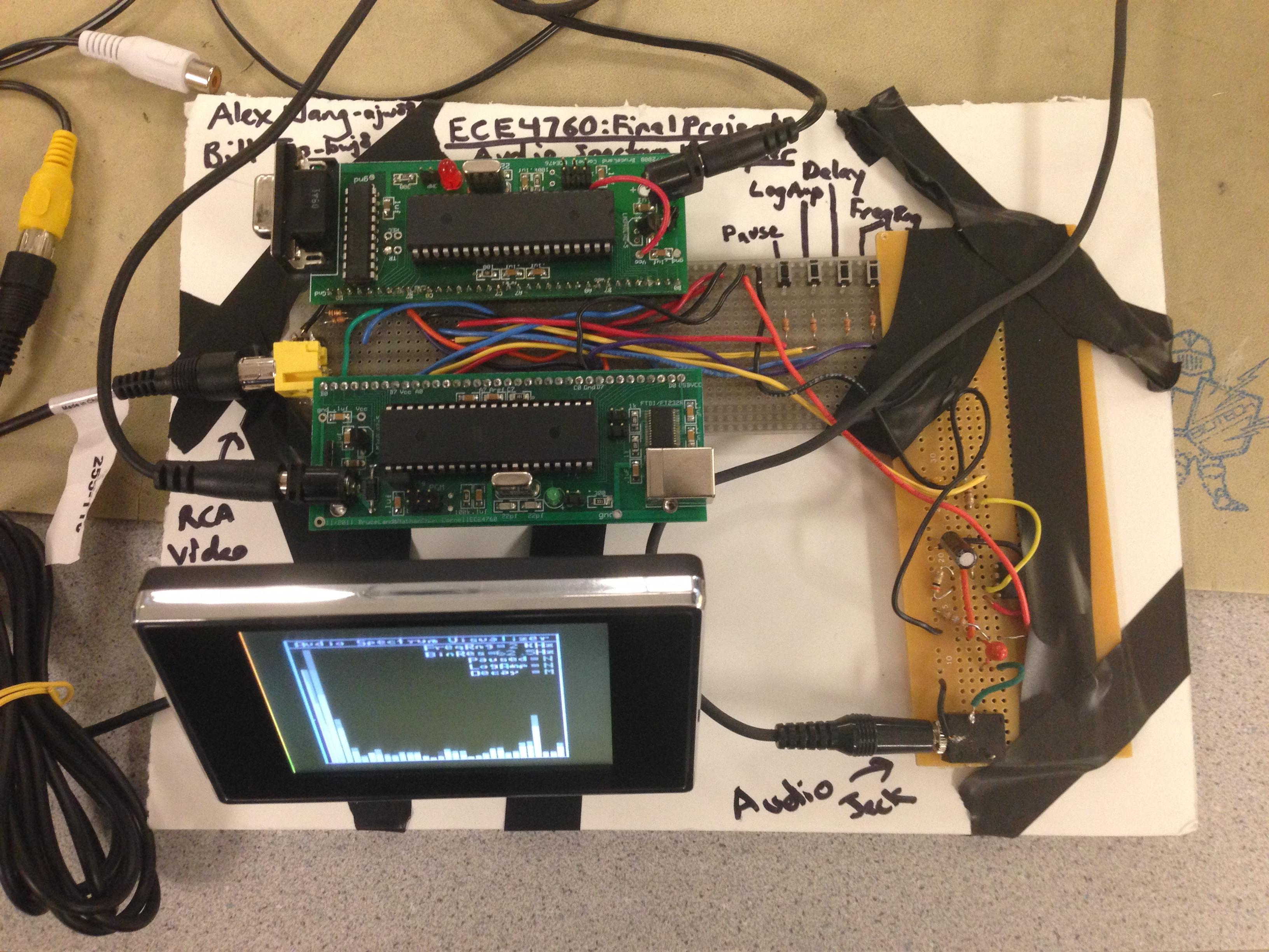 audio spectrum analyzer circuit diagram kenworth t660 headlight wiring ece 4760