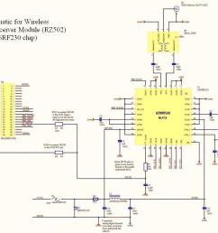 figure 5 schematic for wireless transceiver module rz502 from atmel s application notes [ 1055 x 789 Pixel ]