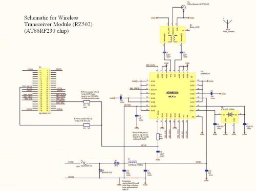 small resolution of figure 5 schematic for wireless transceiver module rz502 from atmel s application notes