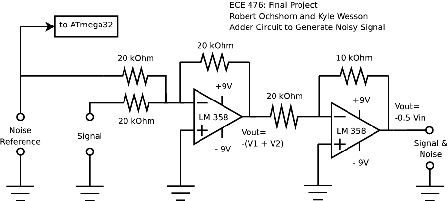 diagram simple generator tractor wiring adaptive 60 hz noise cancellation