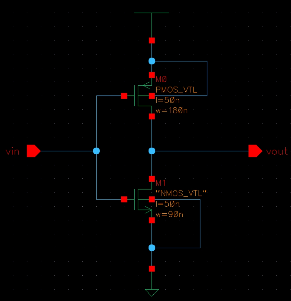 medium resolution of 1 example design and simulation of an inverter