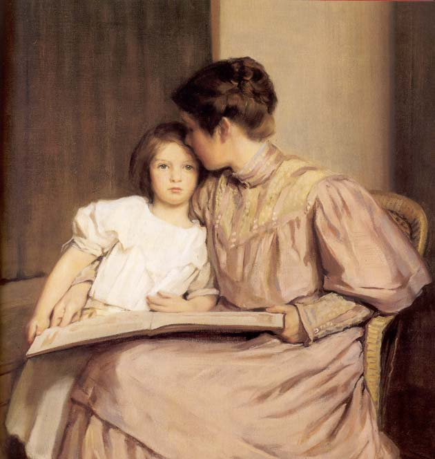 Image result for motherhood painting 1900's""