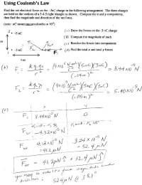 Electrostatics And Coulomb S Law Worksheet Answers ...