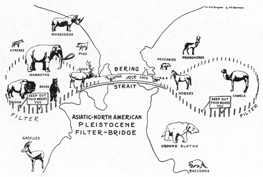 Mammals and Land Bridges, by George Gaylord Simpson