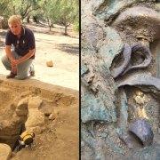 Αφιέρωμα των New York Times για τον τάφο του πολεμιστή που ανακάλυψαν οι αρχαιολόγοι Stocker & Davis, Βραβείο Αρχαιολογίας 2016 G. Sciacca