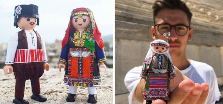 Ο 21χρονος Πέτρος Καμινιώτης που ντύνει τα Playmobil με παραδοσιακές φορεσιές!